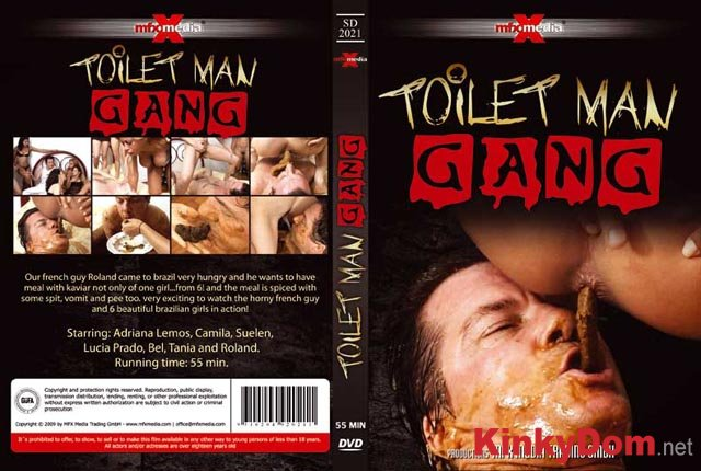 Adriana, Camila, Suelen, Lucia, Bel, Tania and Roland ([SD-2021] - Toilet Man Gang - DVDRip) [avi / 578 MB]