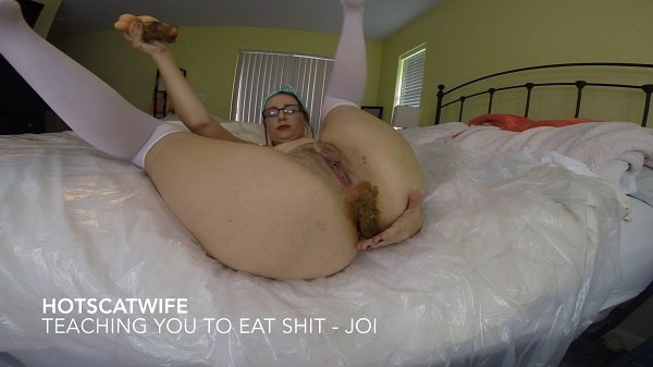 Hot Scat Wife (Teaching you to eat SHIT – Jerkoff Instructional - FullHD 1080p) [mp4 / 1.14 GB]