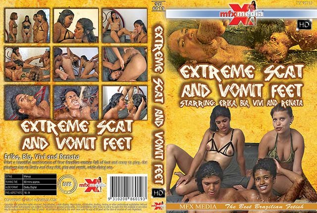 Erika, Bia, Vivi, Renata ([SD-6019] Extreme Shit and Vomit Foot - HDRip) [mp4 / 1.29 GB]