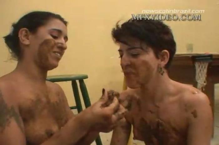 Latifa, Nana, Lizandra, Karla (MFX-1416 Drink your Diarrhea, Eat my Scat - DVDRip) [mp4 / 411 MB]