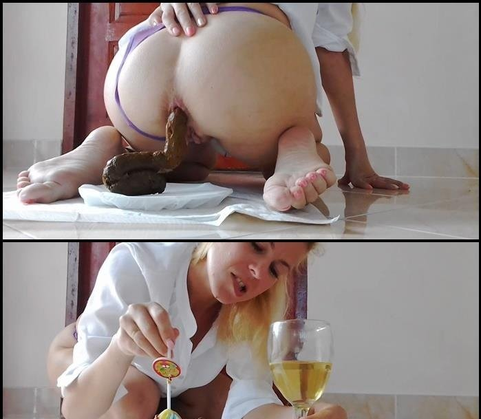 MissAnja (Plate Of Huge Shit, Glass of Drink, Dessert - HD 720p) [mp4 / 726 MB]