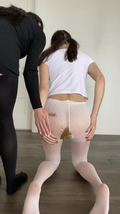 TheHealthyWhores (Shitting myself inside white pantyhose - UltraHD 2K) [mp4 / 135 MB]